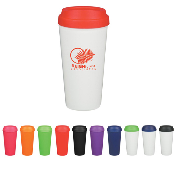 Imprinted 16 oz. Double Wall Plastic Tumbler