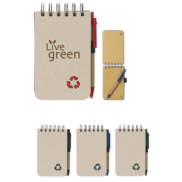 Personalized Eco-Rich Spiral Jotter & Pen