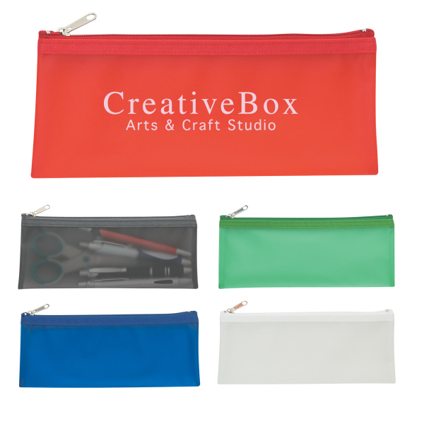 Printed Zippered Pencil Case