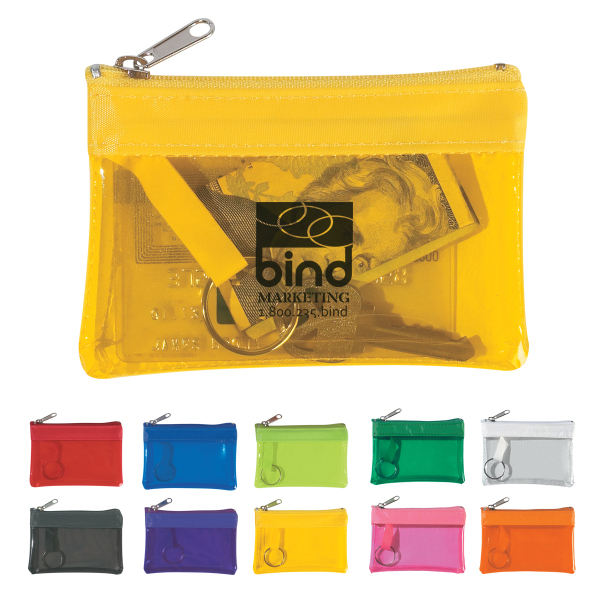 Personalized Translucent Zippered Coin Pouch