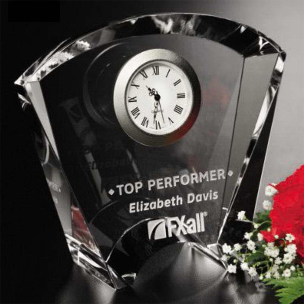 Customized Fanfare Clock Award