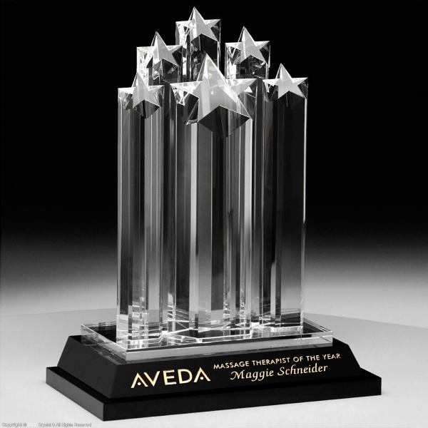 Customized Starburst Crystal Award