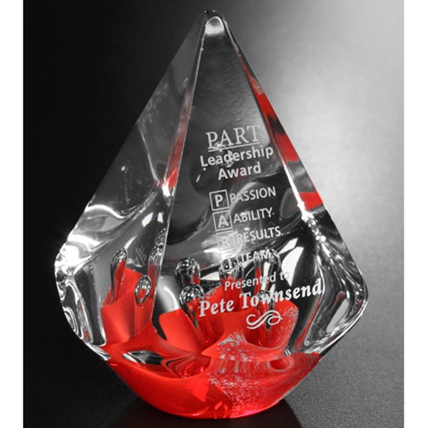 Personalized Large Quatro Pyramid - Red Award