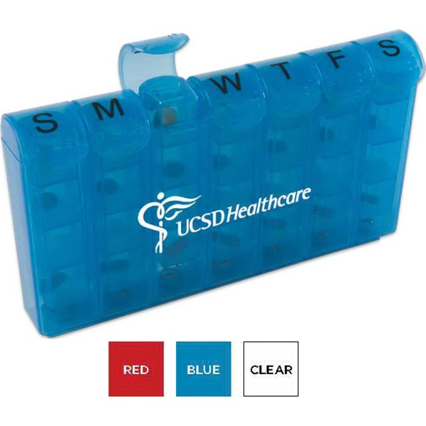 Imprinted 28 Compartment Med Minder