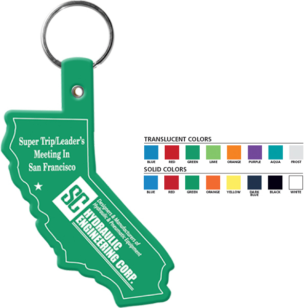 Promotional California Flexible Key Tag