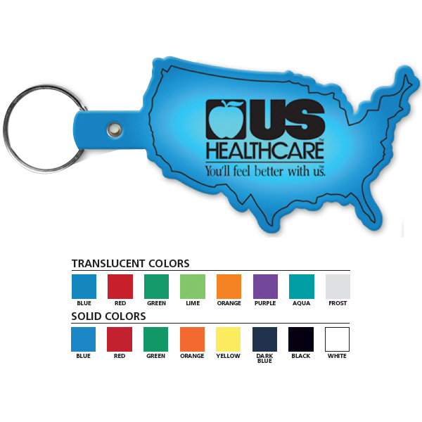 Customized United States Flexible Key Tag