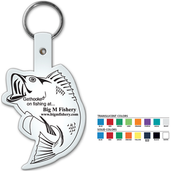 Customized Fish Flexible Key Tag