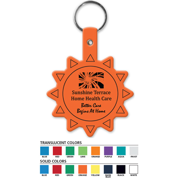 Promotional Sun Flexible Key Tag