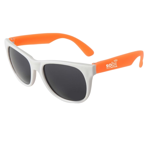 Promotional Neon Sunglasses - White Frame