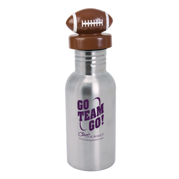 Custom NicheBottle (TM) 17 oz. Stainless Bottle with Football Lid