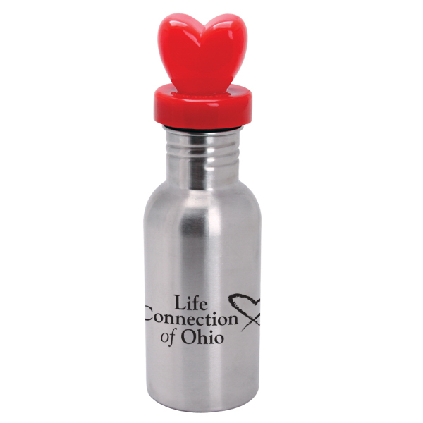 Promotional NicheBottle (TM) 17 oz. Stainless Bottle with Heart Lid