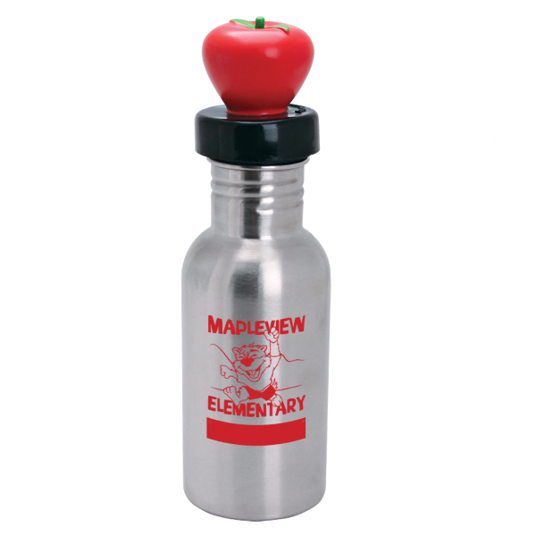 Imprinted NicheBottle (TM) 17 oz. Stainless Bottle with Apple Lid