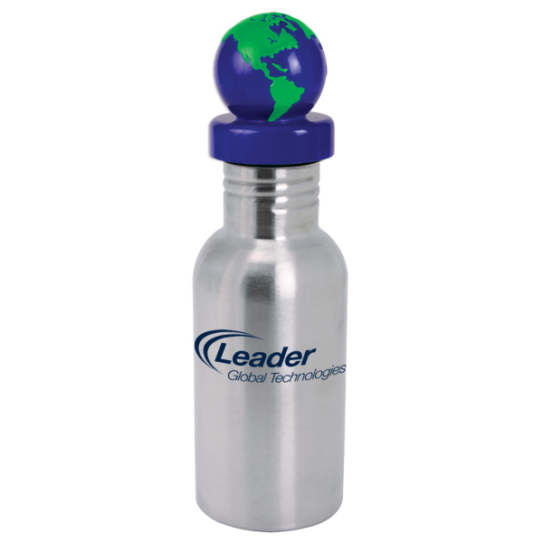 Printed NicheBottle (TM) 17 oz. Stainless Bottle with Global Lid