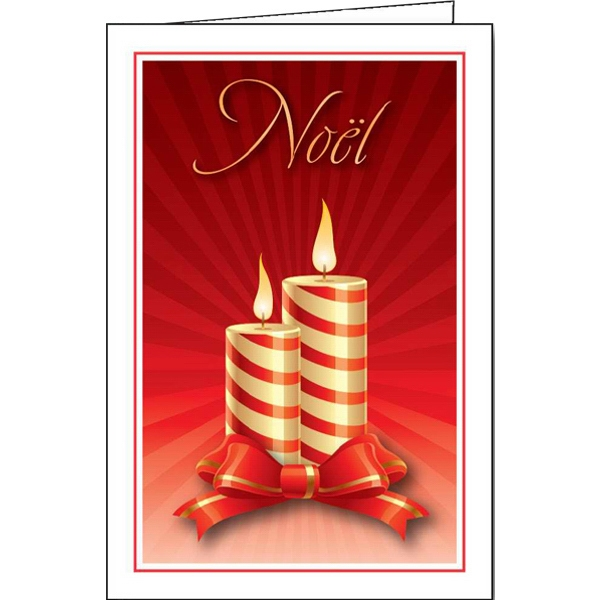 Custom Yule Candles greeting card