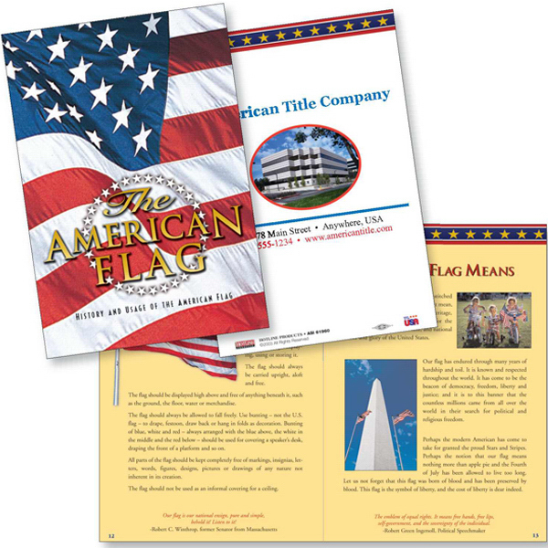 Custom The American Flag patriotic booklet