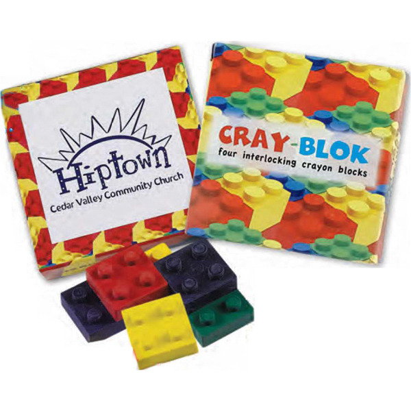 Printed Cray-Bloks Stacking Crayon (Imprinted)