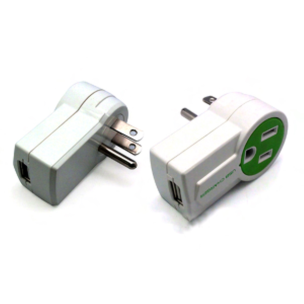 Promotional Mini AC Outlet With 1Port USB Charger