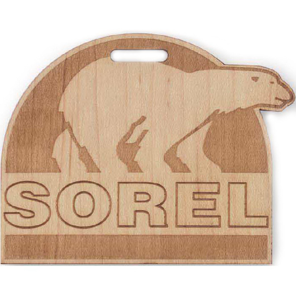 Promotional Custom Shaped Laser Engraved Wood Tags