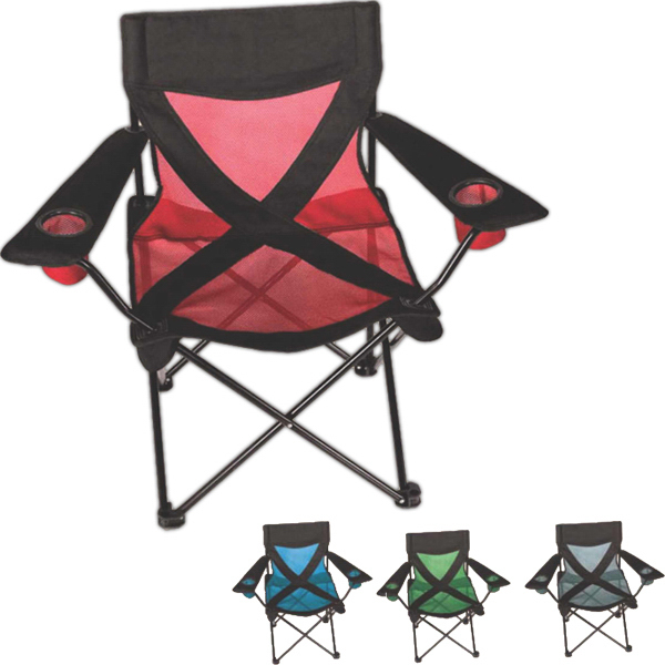 Printed X-Stream Mesh Camp Chair