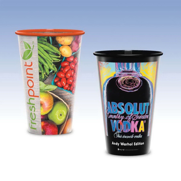 Personalized Visstun® 16oz Reusable Clear Plastic Cup -Hi-Def