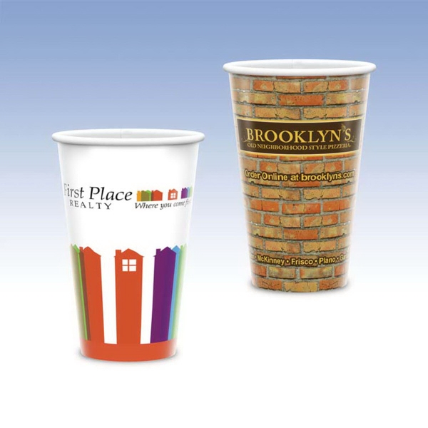 Promotional Visstun® 16oz Heavy Duty Paper Hot Cup-Full Color