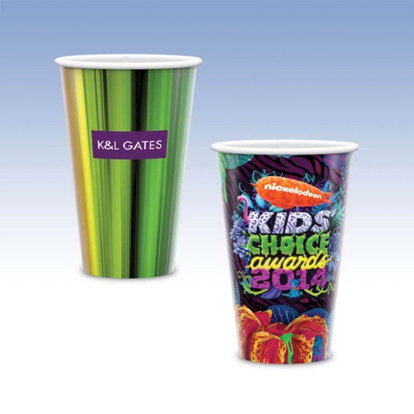 Personalized Visstun® 16oz Reusable Wht Plastic Cup-Full Color