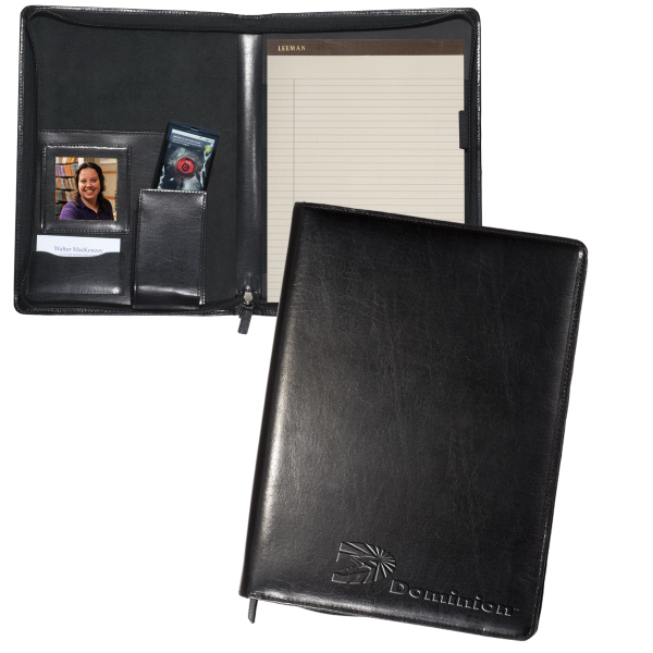 Promotional Leeman New York Zippered Magnetic Photo Portfolio