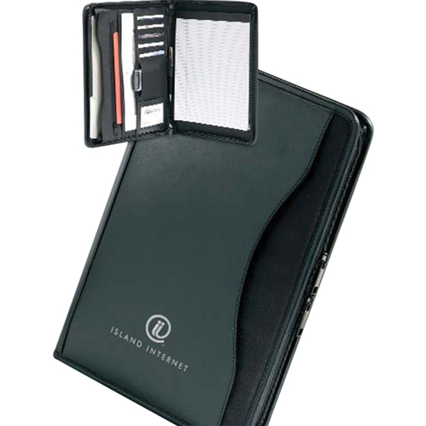 Imprinted Tradition Zippered Padfolio
