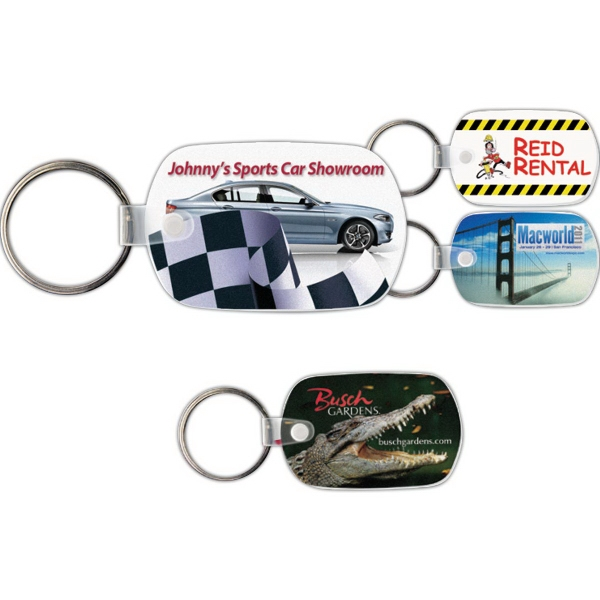 Customized Key Tag - Standard Oval - Full Color