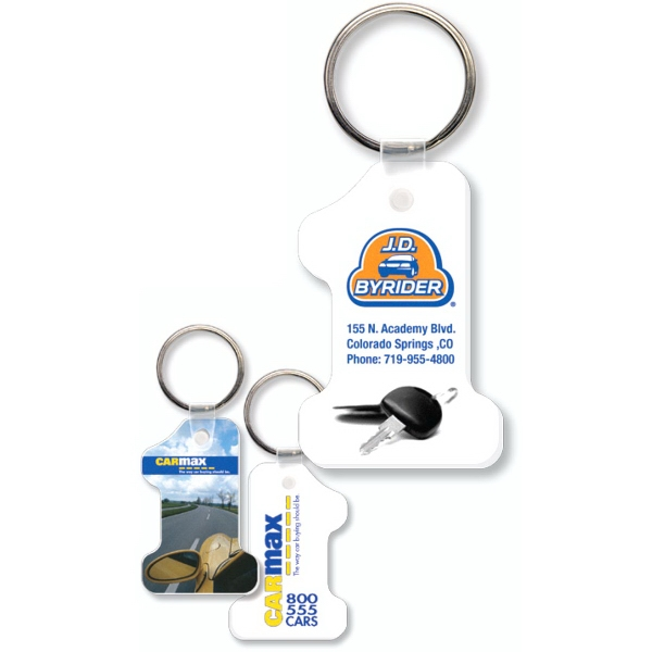 Customized Key Tag - Number One - Full Color