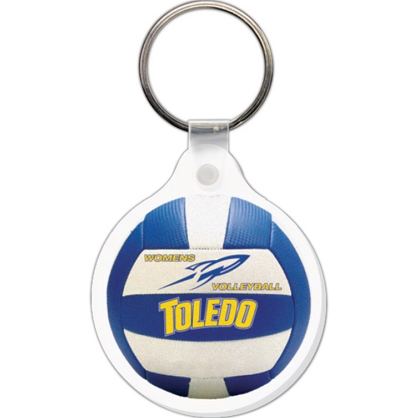 Customized Key Tag - Round w/Tab - Full Color