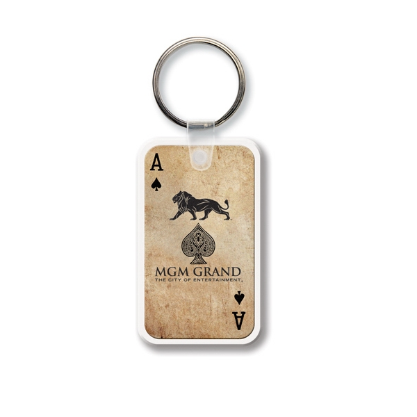 Customized Key Tag - Rectangle w/RC - Full Color