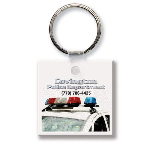 Printed Key Tag - Small Square - Full Color