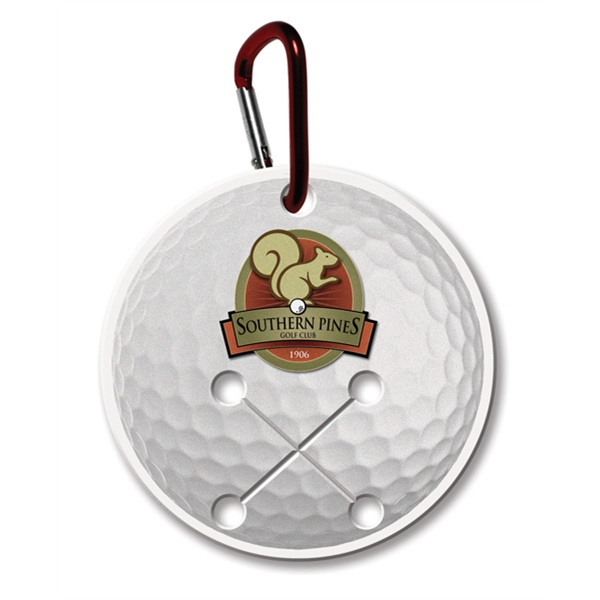 Printed Golf Towel Holder - Round - Full Color