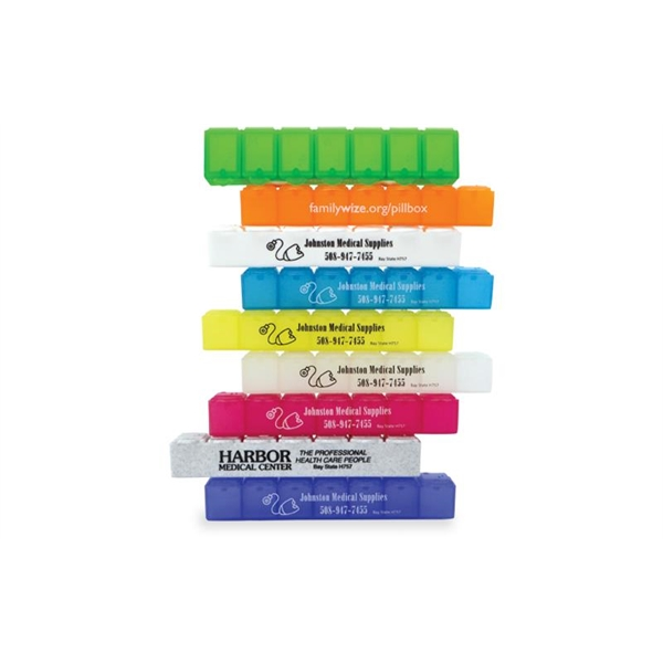 Promotional All-Week Pill Box - 6""