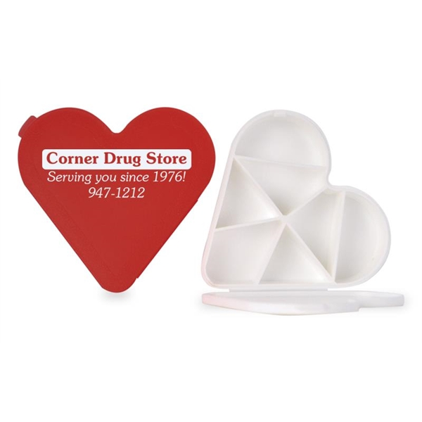 Imprinted Heart Pill Box