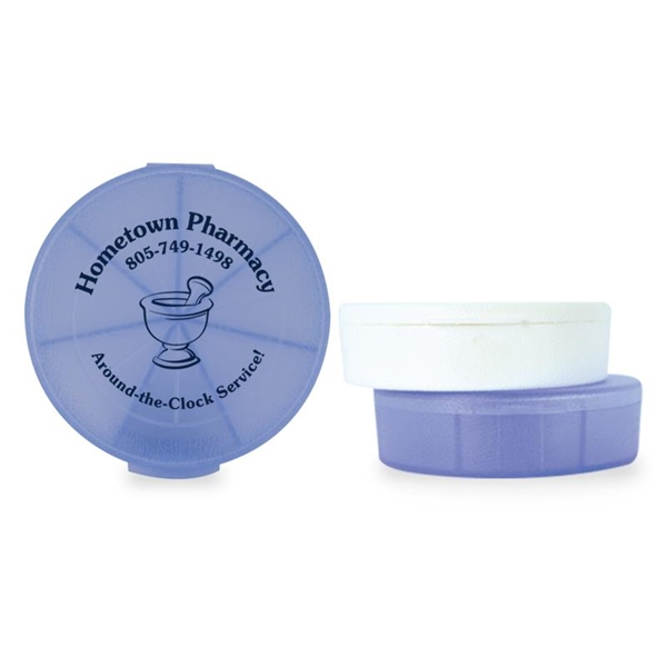 Imprinted Med-Week Seven-Compartment Pill Box