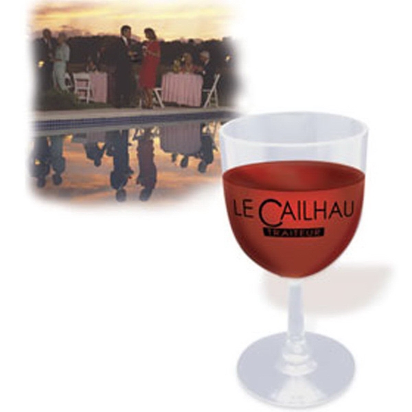 Personalized Here's-to-You Plastic Wine Glass