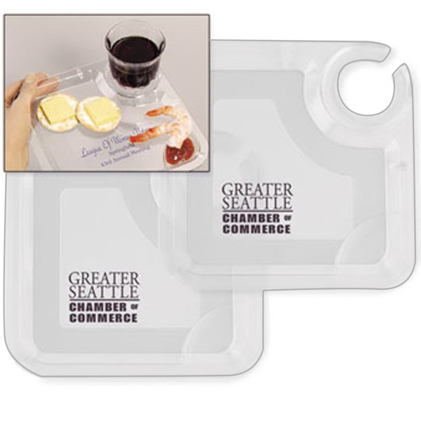Imprinted Party Valet Snack & Wine Tray