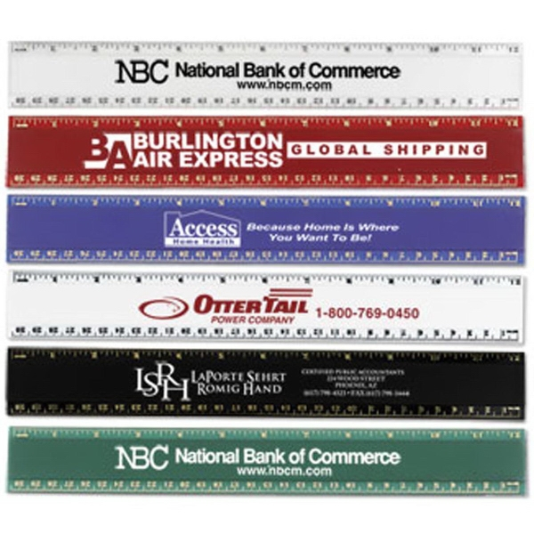 "Personalized 12"" Pro-Scale Plastic Ruler"