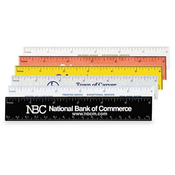 "Imprinted Ideal 6"" Pocket Ruler"