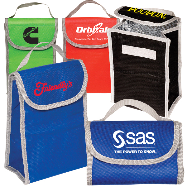 Printed Non-Woven Folding Lunch Cooler - 80GSM