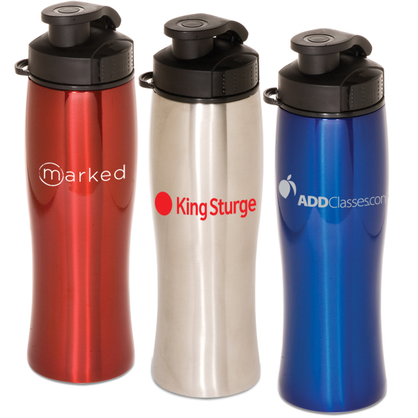 Imprinted Contour Stainless Bottle