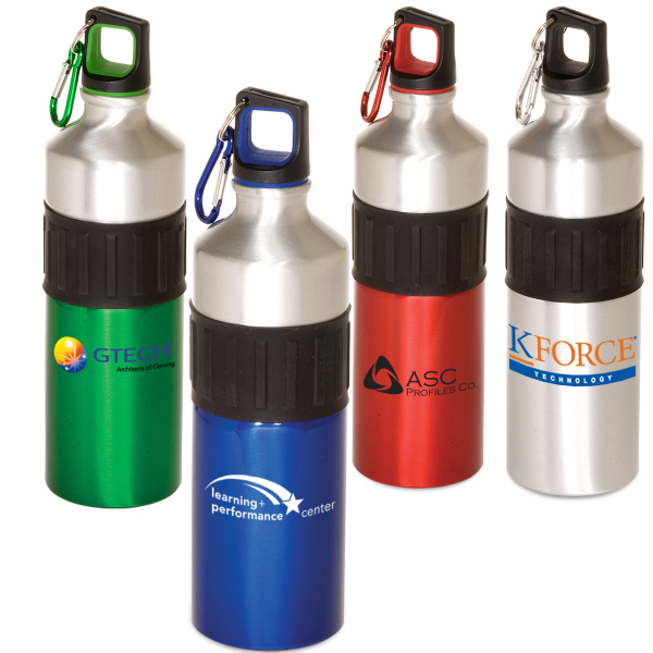 Imprinted Power Grip Aluminum Bottle