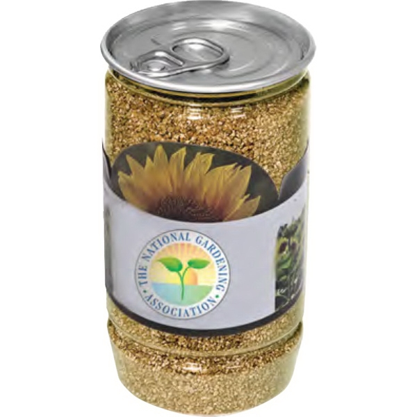 Imprinted Sunflower-In-A-Can