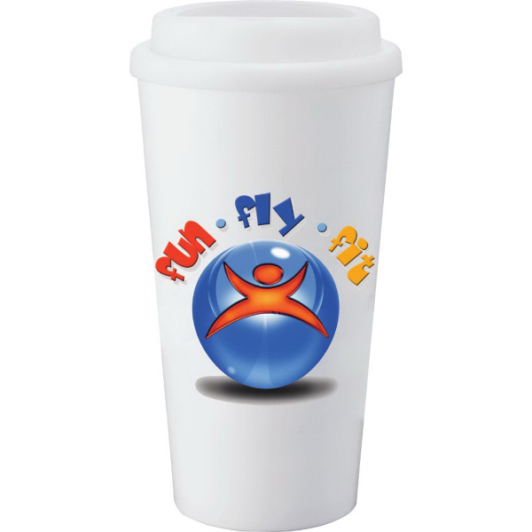 Customized Mega Double Wall Plastic Tumbler 16 oz