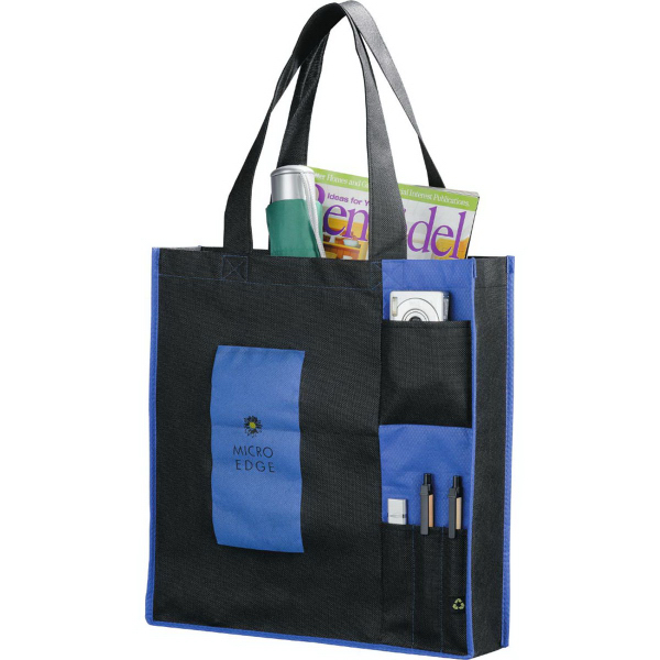 Imprinted PolyPro Non-Woven Pocket Tote