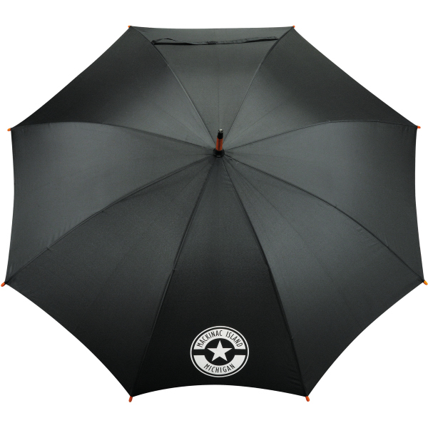 "Printed 48"" EcoSmart (R) Stick Umbrella"