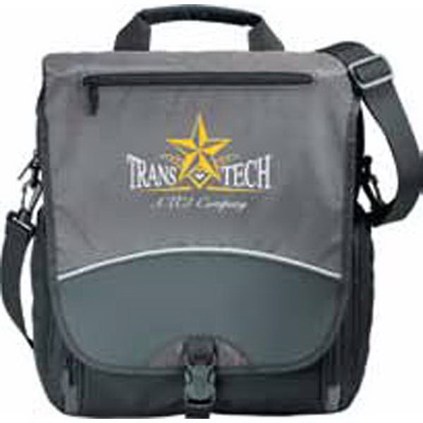 Promotional TechTransit Vertical Compu-Messenger Bag