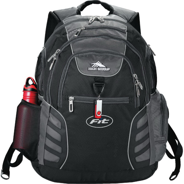 Imprinted High Sierra (R) Big Wig Compu-Backpack